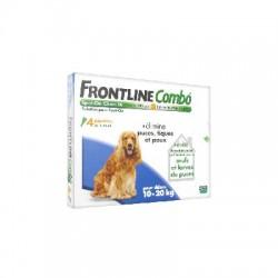Frontline combo chien m (10-20 kg) 4 pipettes