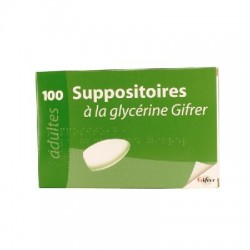 Suppositoire à la glycérine gifrer x100