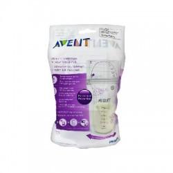 Avent 25 sachets de conservation pour lait maternel 180 ml