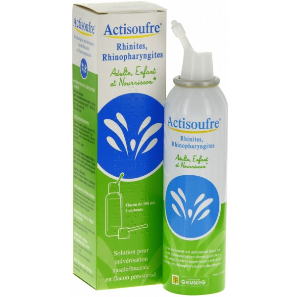 actisoufre pulv risation nasale buccale 100ml pharmacie cap3000. Black Bedroom Furniture Sets. Home Design Ideas