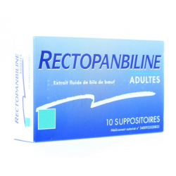 Rectopanbiline 10 suppositoires adulte