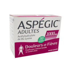 Aspegic 1000mg 30 sachets