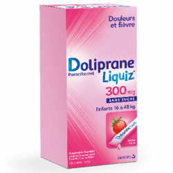 Doliprane liquiz 300mg 12 sticks