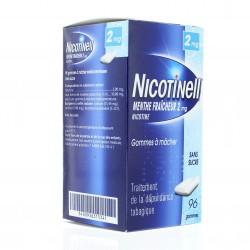 Nicotinell 2mg menthe fraiche 96 gommes à mâcher