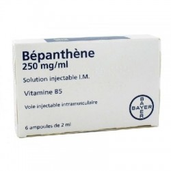Bepanthene 250 mg/ml 6 ampoules de 2ml