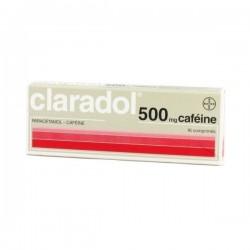 Claradol caféine 500mg 16 comprimés