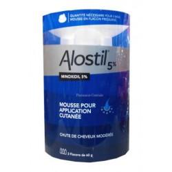 Alostil 5 %, mousse pour application cutanée en flacon pressurisé 3x60g