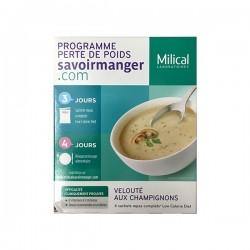 Milical lcd soupe champignons 4 sachets