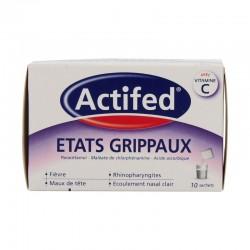 Actifed états grippaux 10 sachets