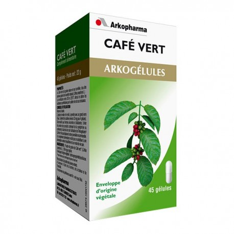 Arkopharma arkogélules café vert 45 gélules - Pharmacie