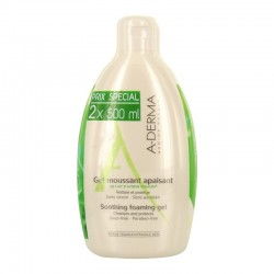 A-derma gel moussant apaisant au lait d'avoine duo 500ml