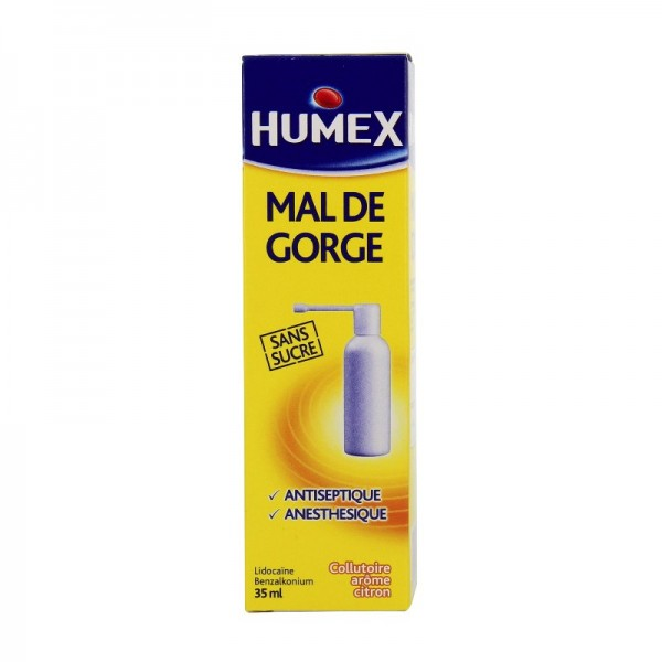 humex mal de gorge collutoire flacon pressuris 35ml pharmacie cap3000. Black Bedroom Furniture Sets. Home Design Ideas