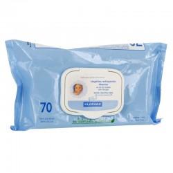 Klorane lingettes nettoyantes douceur 70 lingettes