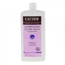 Cattier shampoing extra doux usage quotidien 1 litre