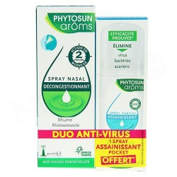 Phytosun Arôms Respiration Spray Nasal 20 ml + Spray Assainissant Habitat 30ml Offert