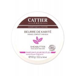 Cattier Beurre de Karité Parfum Fleur des Îles 100 g