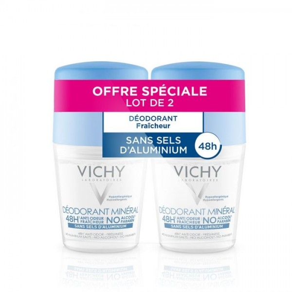 vichy d odorant min ral sans sels aluminium roll on peaux sensibles 50 ml pharmacie cap3000. Black Bedroom Furniture Sets. Home Design Ideas