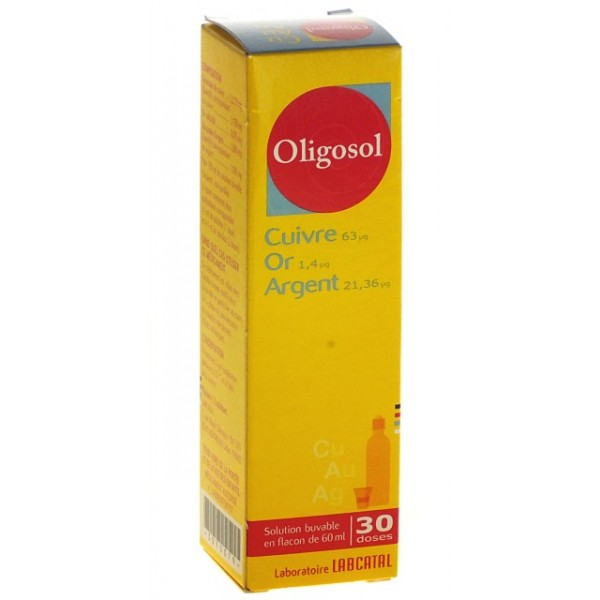 cuivre or argent oligosol 60ml pharmacie cap3000. Black Bedroom Furniture Sets. Home Design Ideas