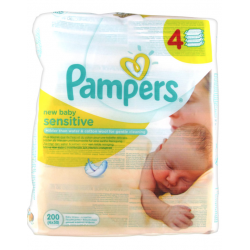 PAMPERS LING SENSITIVE PAQ 50 /4