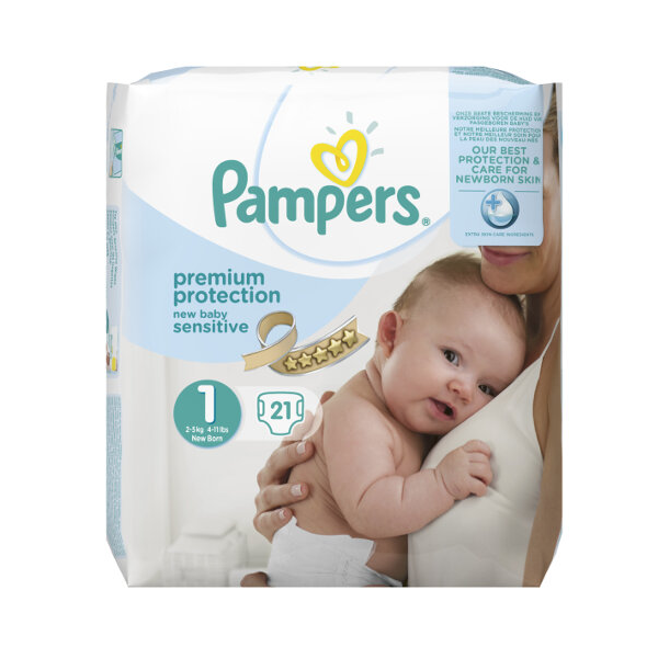 pampers new baby sensitive canaux absorbants taille 1 2 5kg 21 couches pharmacie cap3000. Black Bedroom Furniture Sets. Home Design Ideas