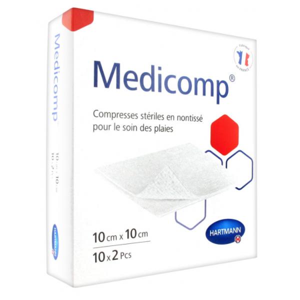 Hartmann medicomp s 40 compresses en non-tissé stériles 10 x 10 cm 10 x 2 compresses