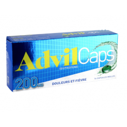 Advilcaps 200 mg 16 capsules molles