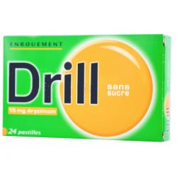 Drill Pastilles enrouement 15 mg sans sucre 24 pastilles