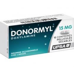 Donormyl 15mg 10 comprimés pelliculés sécables