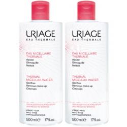 Uriage eau micellaire thermale peaux sujettes aux rougeurs lot de 2x500ml