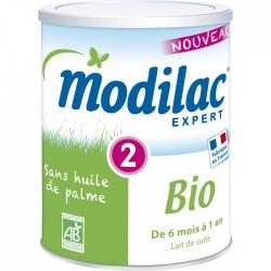 MODILAC EXPERT 2 LAIT DE SUITE EN POUDRE 6 MOIS-1 AN BIO 800G