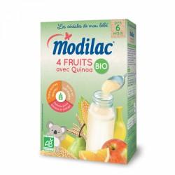 MODILAC CEREALES 4 FRUITS AVEC QUINOA 6 MOIS-3 ANS BIO 230G