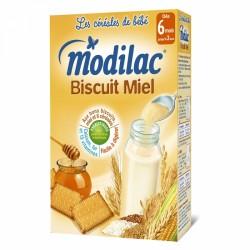 MODILAC CEREALES BISCUIT MIEL 6 MOIS-3 ANS 300G