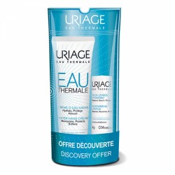 URIAGE CREME D'EAU MAINS SECHES 30ML + STICK LEVRES HYDRATANT 4G