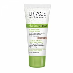 URIAGE HYSEAC 3 REGUL SOIN GLOBAL TEINTE UNIVERSELLE SPF30 PEAUX GRASSES A IMPERFECTIONS 40ML