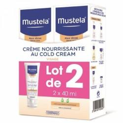 MUSTELA CREME NOURRISSANTE AU COLD CREAM PEAUX SECHES 2X40ML