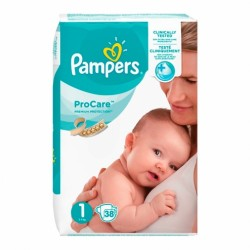 PAMPERS PROCARE COUCHES PREMIUM PROTECTION 1 2-5 KG 38 UNITES