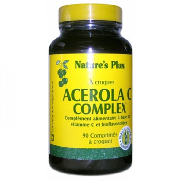 NATURE'S PLUS ACEROLA C COMPLEX 90 COMPRIMES A CROQUER