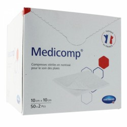 MEDICOMP COMPRESSES STERILES NON TISSEES 10CMX10CM 50X2