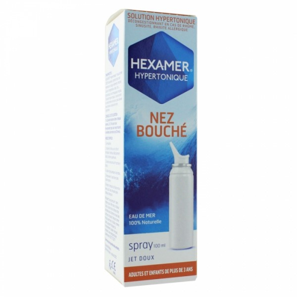 hexamer hypertonique hygiene du nez adultes et enfants de plus de 3 ans 100ml pharmacie cap3000. Black Bedroom Furniture Sets. Home Design Ideas