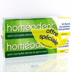 HOMEODENT SOIN COMPLET DENTS ET GENCIVES CITRON 2x75ML
