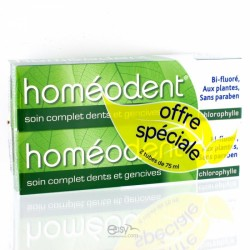 HOMEODENT SOIN COMPLET DENTS ET GENCIVES CHLOROPHYLLE 2x75ML