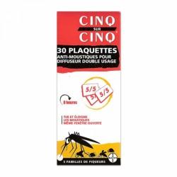 CINQ SUR CINQ PLAQUETTES ANTI-MOUSTIQUES POUR DIFFUSEUR DOUBLE USAGE X30