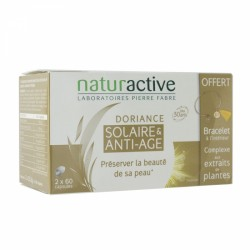 NATURACTIVE DORIANCE SOLAIRE ANTI-AGE 2X60 CAPSULES + BRACELET OFFERT