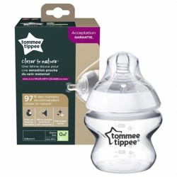 TOMMEE TIPPEE BIBERON CLOSER TO NATURE DEBIT LENT DES LA NAISSANCE 150ML