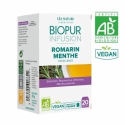 BIOPUR INFUSION ROMARIN MENTHE POIVREE BIO 20 SACHETS