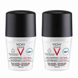 VICHY HOMME DEODORANT BILLE 48H ANTI-TRACES 2X50ML