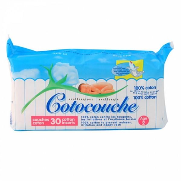 COTOCOUCHE COUCHES 100% COTON 2EME AGE COUCHES X30
