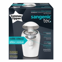 TOMMEE TIPPEE SANGENIC TEC POUBELLE BAC A COUCHES BLANC