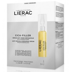 LIERAC CICA-FILLER SERUM ANTI-RIDES REPARATEUR 3 AMPOULES X10ML