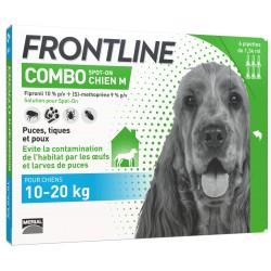 Frontline combo pour chien de 10 à 20kg 6 pipettes